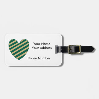 Green and Gold Florida Luggage Tag