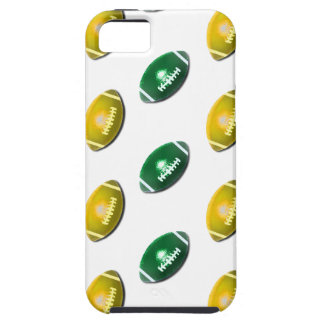 Green and Gold Football Pattern iPhone 5 Case
