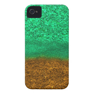 Green and Gold Glitter Chips iPhone 4 Case-Mate Cases