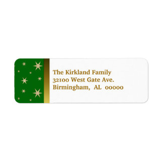 Green and Gold Holiday Address Labels