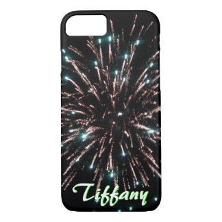 Green and Gold Independence Day Firework iPhone 8/7 Case