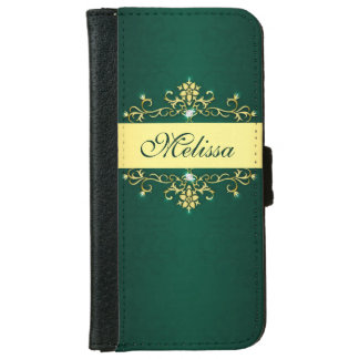 Green and Gold iPhone 6 Wallet Case