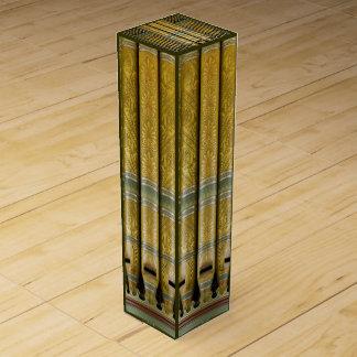 Green and gold organ pipes wine box