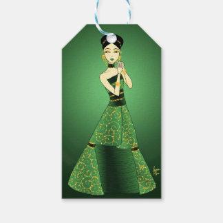 Green and Gold Princess Gift Tags