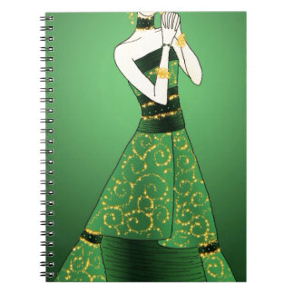 Green and Gold Princess Notebooks