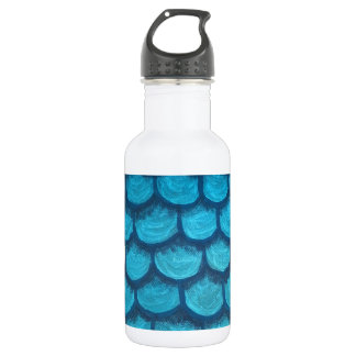 Green and Gold Scales 532 Ml Water Bottle