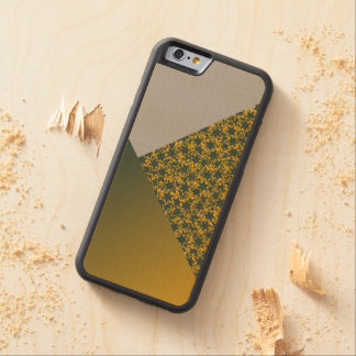 Green and Gold Star Team Spirit Sports Colors Carved® Maple iPhone 6 Bumper
