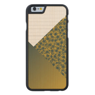 Green and Gold Star Team Spirit Sports Colors Carved® Maple iPhone 6 Slim Case
