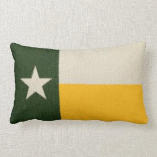 Green and Gold Texas Flag Fabric Lumbar Cushion