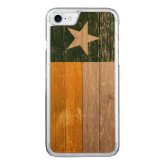 Green and Gold Texas Flag Old Painted Wood Carved iPhone 7 Case