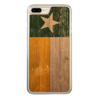 Green and Gold Texas Flag Old Painted Wood Carved iPhone 7 Plus Case