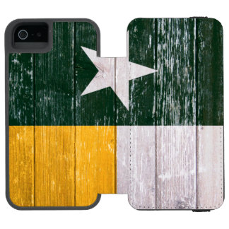 Green and Gold Texas Flag Old Painted Wood Incipio Watson™ iPhone 5 Wallet Case