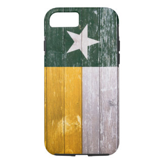 Green and Gold Texas Flag Old Painted Wood iPhone 7 Case