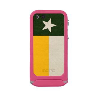Green and Gold Texas Flag on Fabric Incipio ATLAS ID™ iPhone 5 Case