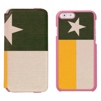 Green and Gold Texas Flag on Fabric Incipio Watson™ iPhone 6 Wallet Case