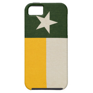 Green and Gold Texas Flag on Fabric iPhone 5 Cover