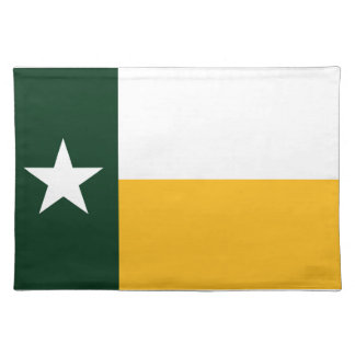 Green and Gold Texas Flag Placemat