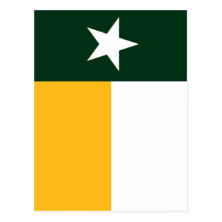 Green and Gold Texas Flag Postcard