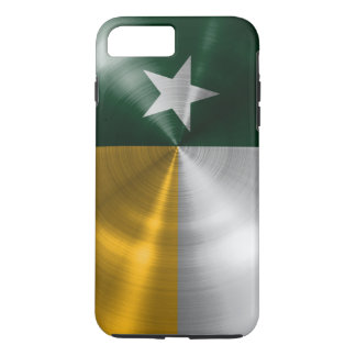 Green and Gold Texas Flag Radial Brushed iPhone 8 Plus/7 Plus Case