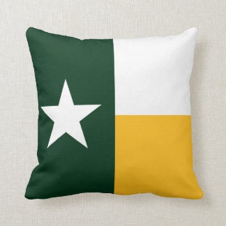 Green and Gold Texas Flag Throw Pillow