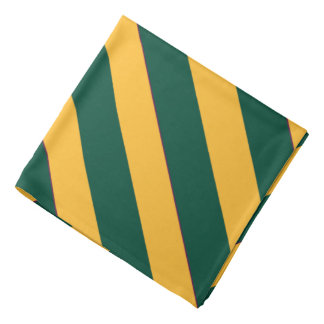 Green and  Gold Texas Striped Bandana
