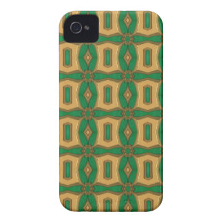 Green and Gold Vintage Blackberry Case