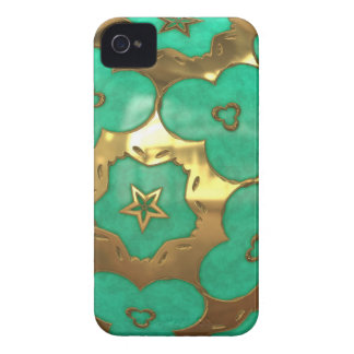 green and gold with star blackberry case
