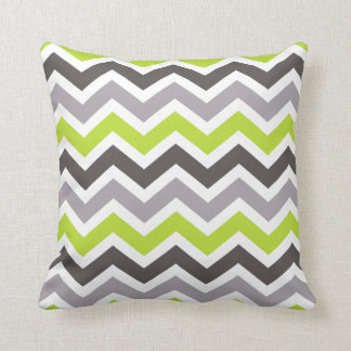 Green and Gray Chevron Cushion