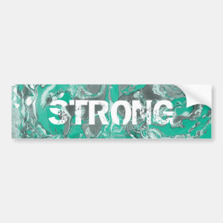 Green and gray Marble. Bumper Sticker