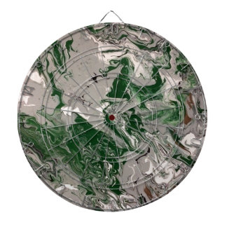 Green and Gray Marble Dartboard
