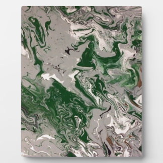 Green and Gray Marble Display Plaque