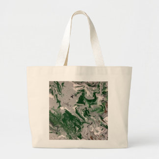 Green and Gray Marble Large Tote Bag