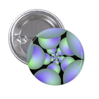 Green and Lilac Sphere Spiral Button