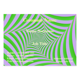Green and Lilac Spiral Card Large Business Cards (Pack Of 100)