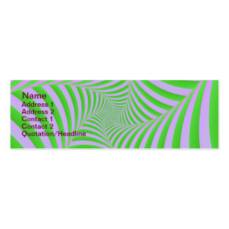 Green and Lilac Spiral Card Double-Sided Mini Business Cards (Pack Of 20)