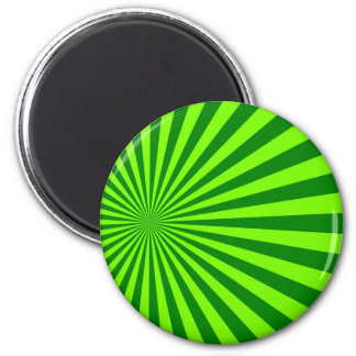 Green and Lime Funky Striped Abstract Art Refrigerator Magnet