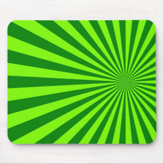 Green and Lime Funky Striped Abstract Art Mouse Pads