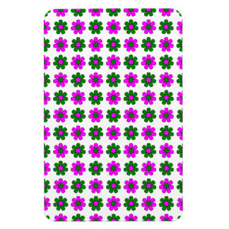 Green and magenta flowers magnet