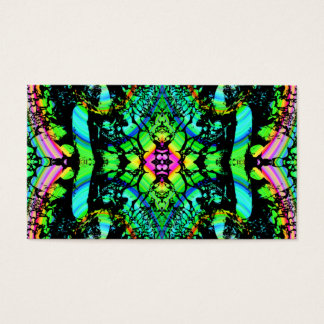 Green and Multicolor Pattern Abstract Design. Business Card