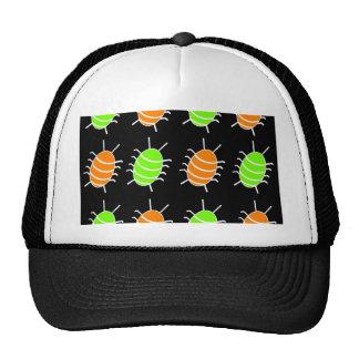 Green and orange bugs cap