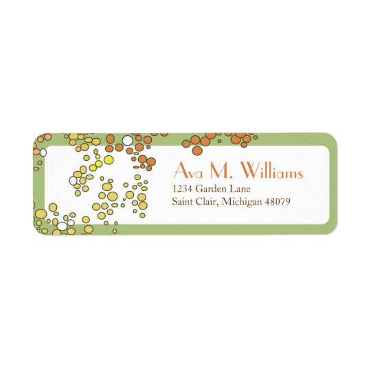 Green and Orange Fall Address Label