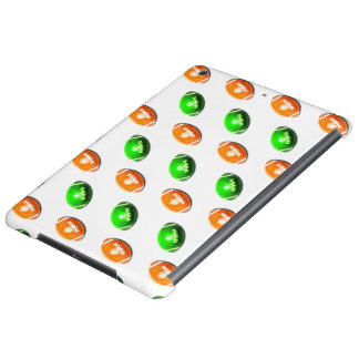 Green and Orange Football Pattern Case For iPad Air