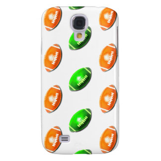Green and Orange Football Pattern Samsung Galaxy S4 Cover