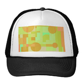 Green and orange geometrical design cap