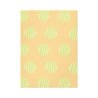 Green and Orange Polka Dot Pattern Wall Art
