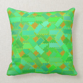Green and Orange Squiggles Pillow
