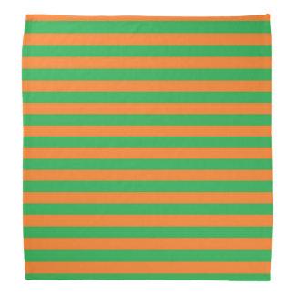 Green and Orange Stripes Bandana
