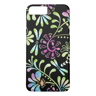 Green and pink abstract flowers iPhone 8 plus/7 plus case