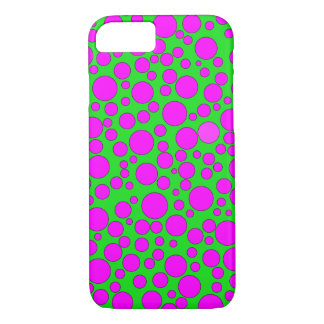 GREEN AND PINK BUBBLES iPHONE 7/8 CASE