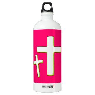 Green And Pink Cross Design SIGG Traveller 1.0L Water Bottle